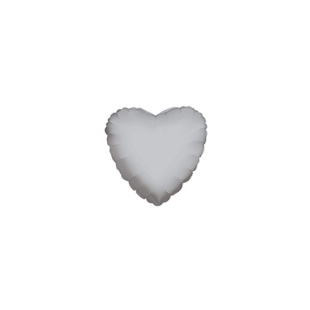 100 Units of CV 18 DS Heart Silver - Balloons/Balloon Holder