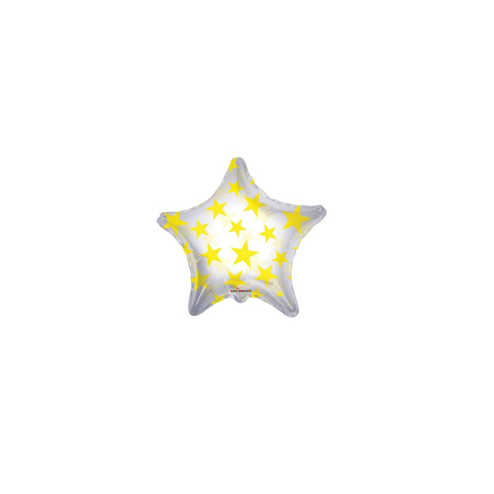 100 Units of CV 22 DS Yellow Stars Shape Clv - Balloons/Balloon Holder