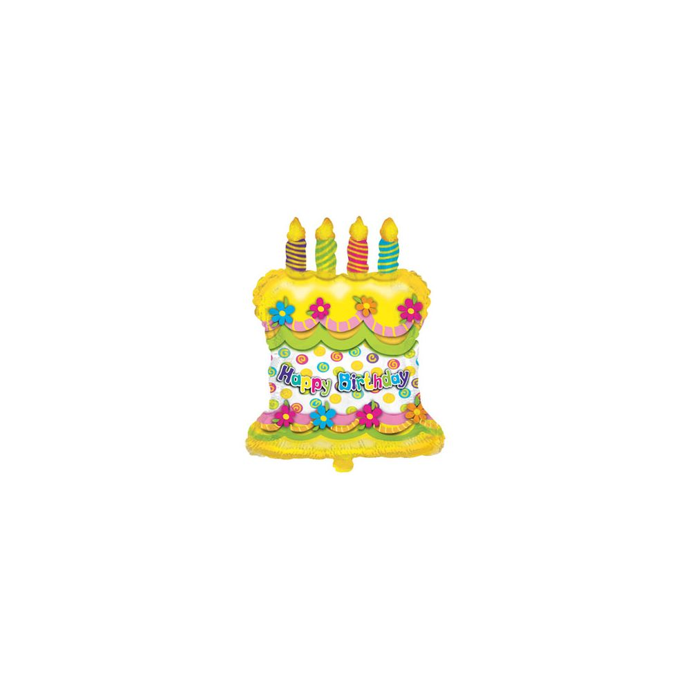 100 Units of CT 28 Pkg JS B-Day Cake Shape - Balloons/Balloon Holder