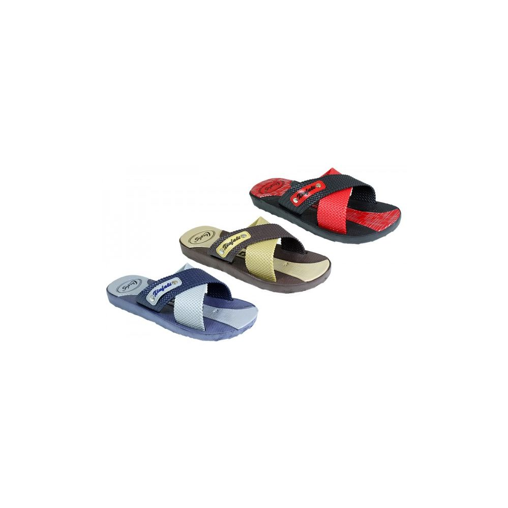 a29ba838b85 60 Units of Mens Shower Beach Sandal Assorted Colors - Men s Flip Flops -  at - alltimetrading.com