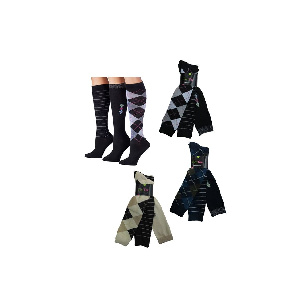 100 Units of Tipi Toe Knee Highs - Womens Knee Highs