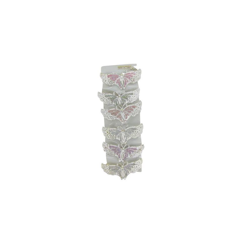 144 Units of BUTTERFLY GLITTER CLIPS - Hair Fancy Clips