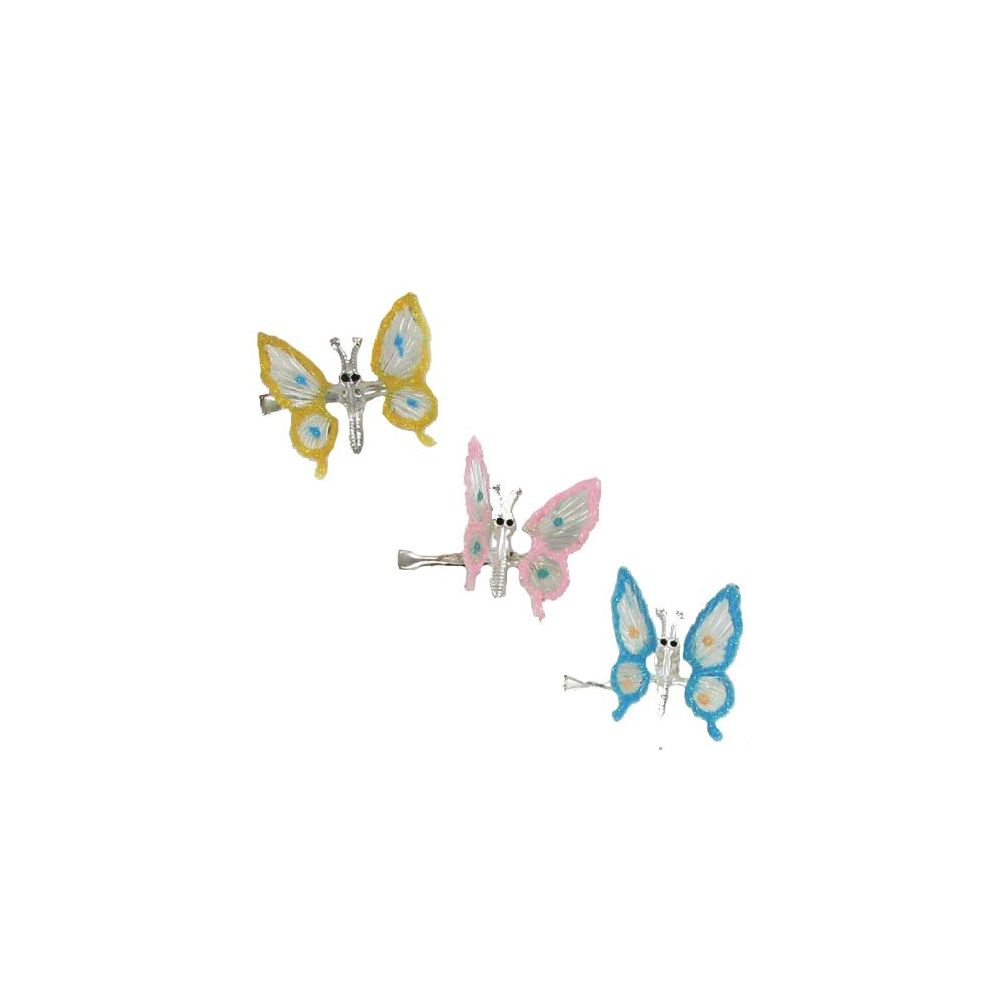 144 Units of HAIR BUTTERFLY JAW CLIPS - Hair Fancy Clips