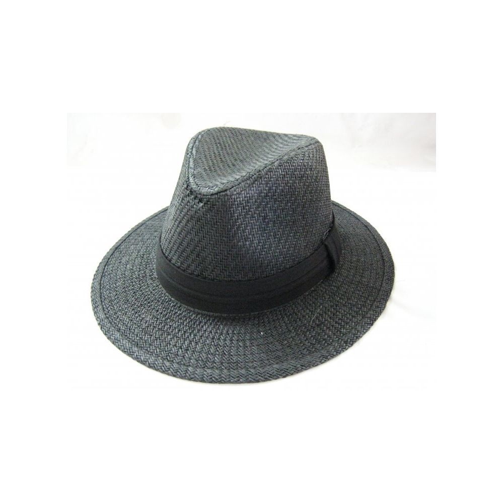 99efb155b 36 Units of Fashion Straw Fedora Hat Black Color - Fedoras, Driver Caps &  Visor