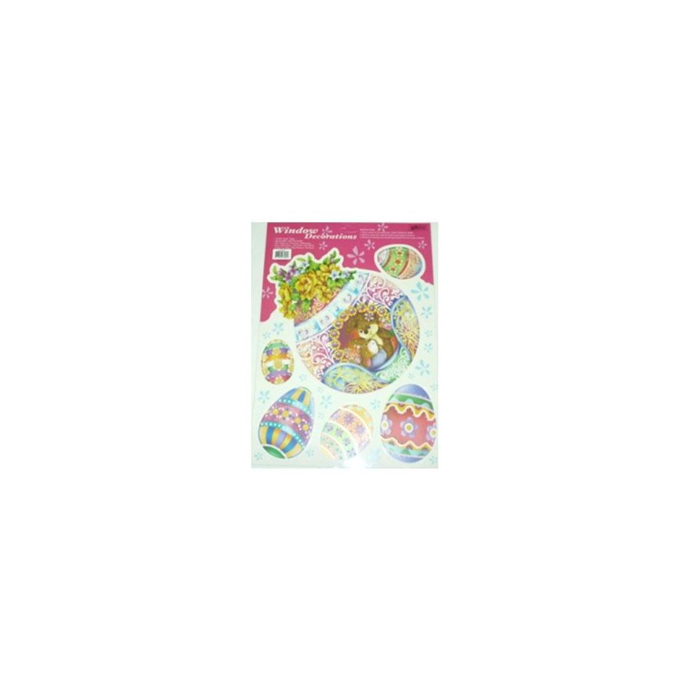108 Units of Easter Window Cling