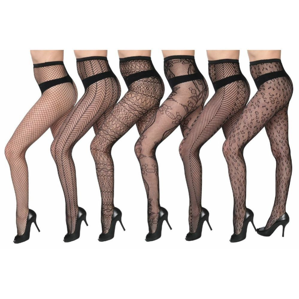 48 Units of Womens Sexy Fishnet Pantyhose - Queen Size