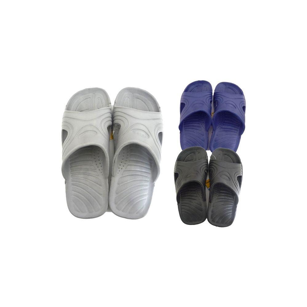 48 Units of Men's Shower Slipper Assorted Colors - Mens Slippers