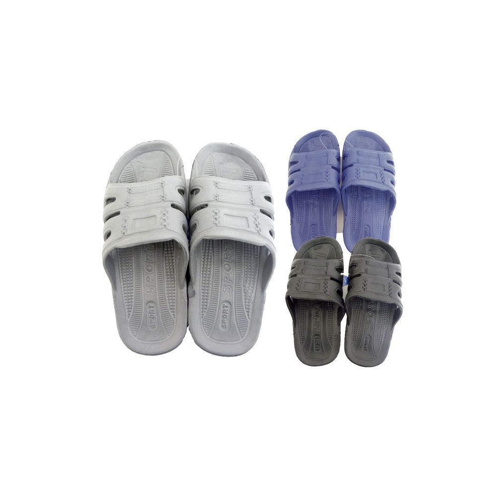 48 Units of Men's Shower Slipper Assorted Colors