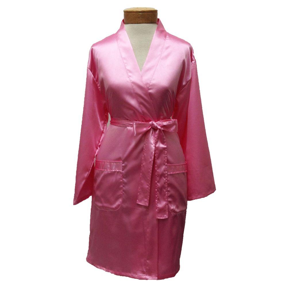 10 Units of Womens Satin Kimono Robe - Pink