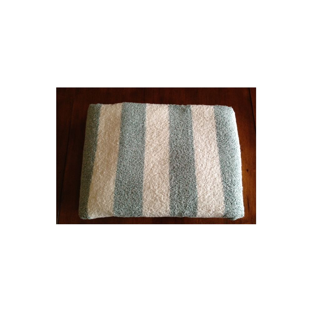 12 Units Of Premium Quality Cabana Stripes Soft And Thick Beach Towel End Hem Dobby Border Green Color Towels