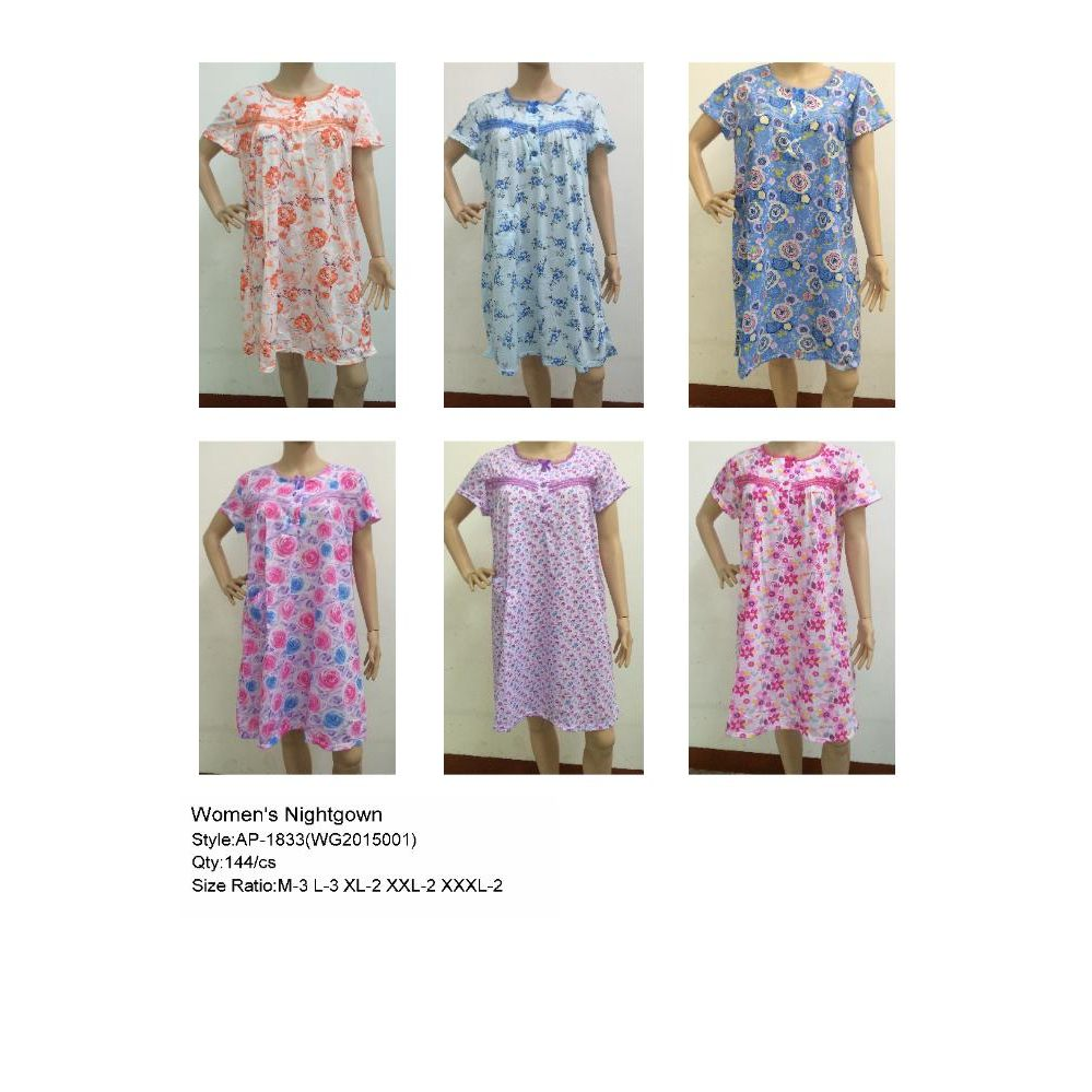 02e84b8f25 144 Units of Ladies Night Gown Assorted Styles - Ladies Lingerie   Sleep  Wear - at - alltimetrading.com