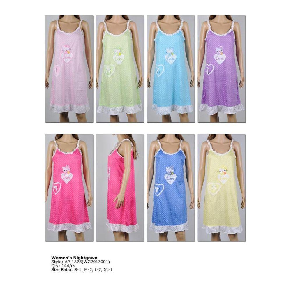 007fcacf6b 72 Units of Ladies Sleeveless Summer NIghtgown Assorted Styles - Ladies  Lingerie   Sleep Wear - at - alltimetrading.com
