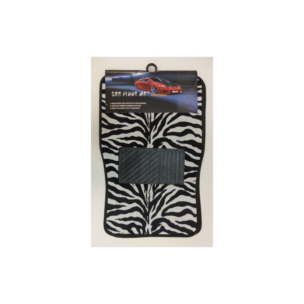 6 Units of 4pc Car Mats-Black & White Zebra Print - AUTO SUNSHADES/MATS