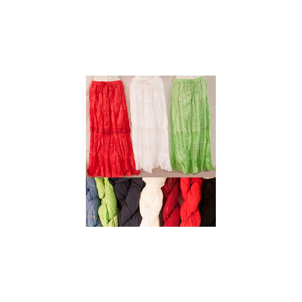 12 units of maxi skirt solid color crochet adjustable