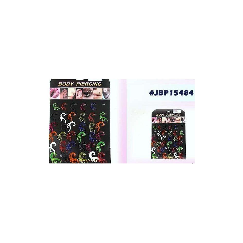 36 Units of Bodyjewelry/ Body Piercing Plastic