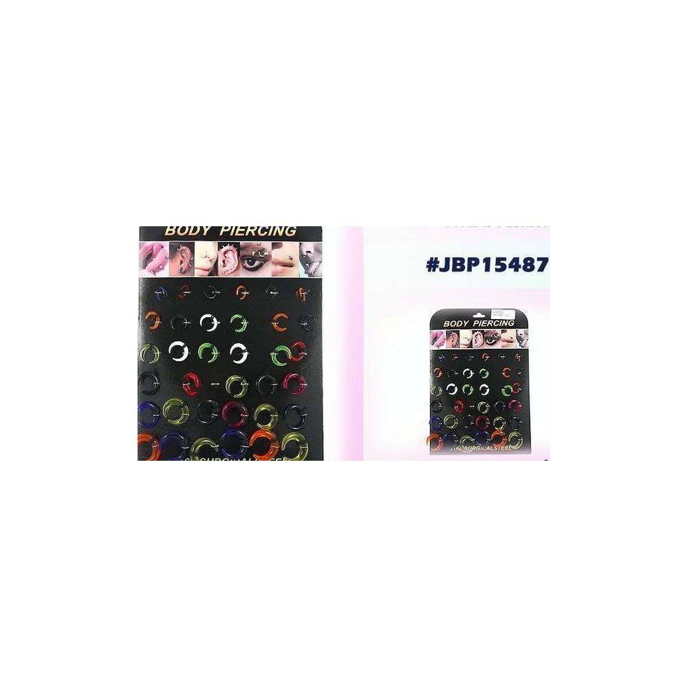 108 Units of Bodyjewelry/ Body piercing Plastic - Jewelry Box