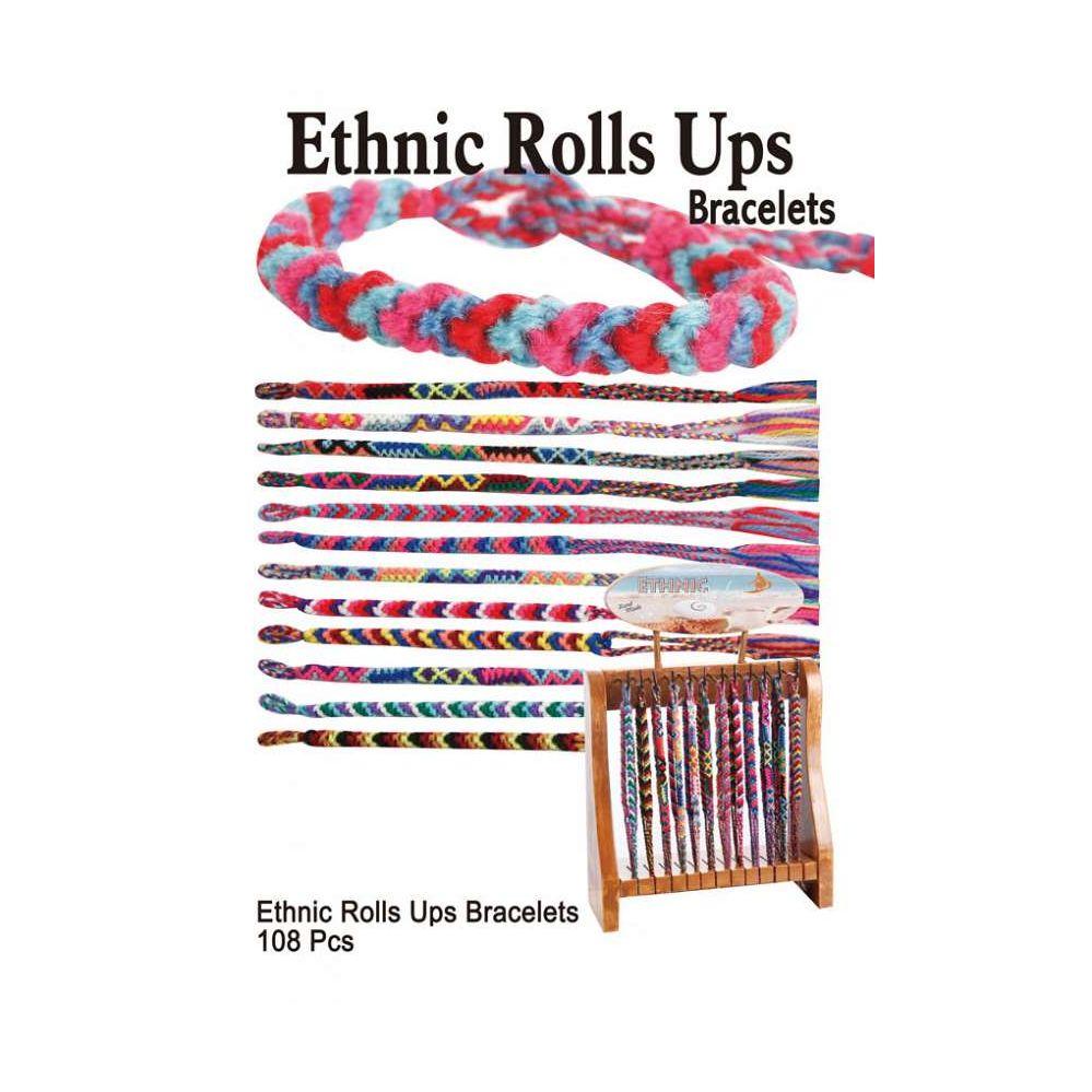 108 Units of ETHNIC ROLLS UPS BRACELETS - Bracelets