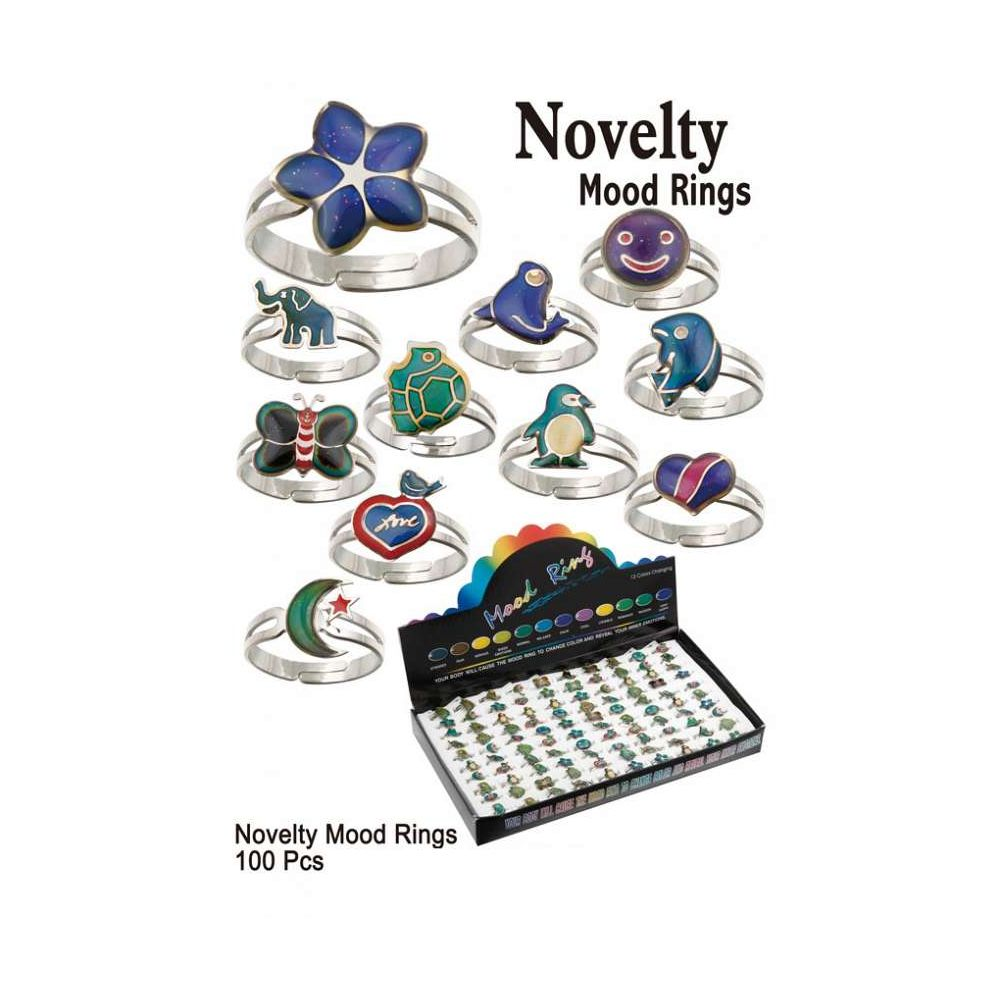 100 Units of NOVELTY MOOD RINGS - Rings