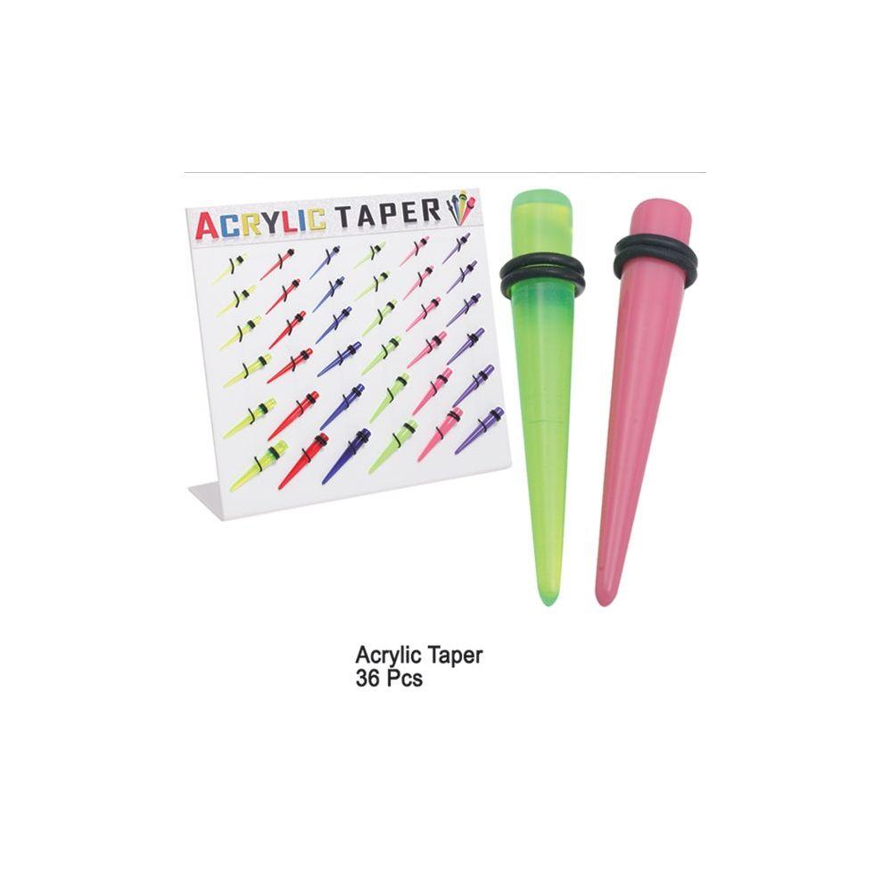 108 Units of ACRYLIC EAR TAPER