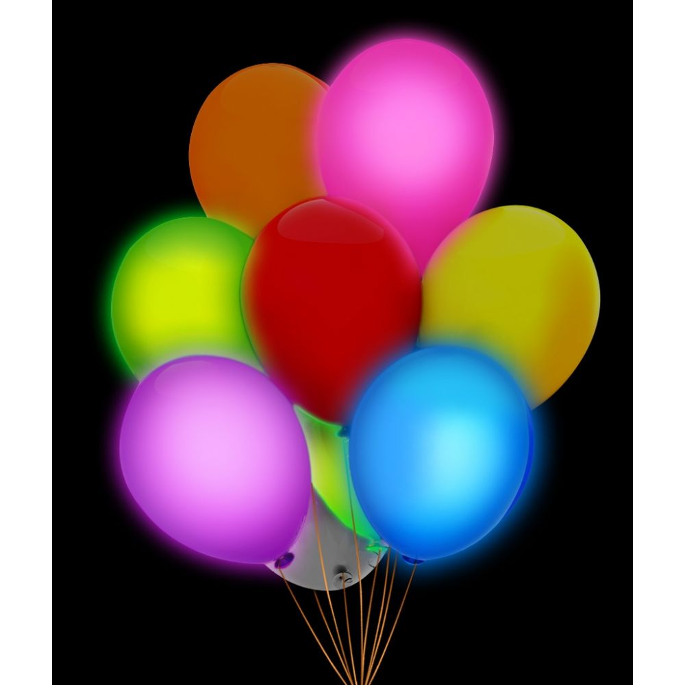100 Units of LED 14 Inch Balloons - Assorted 5 Pack - LED Party Items