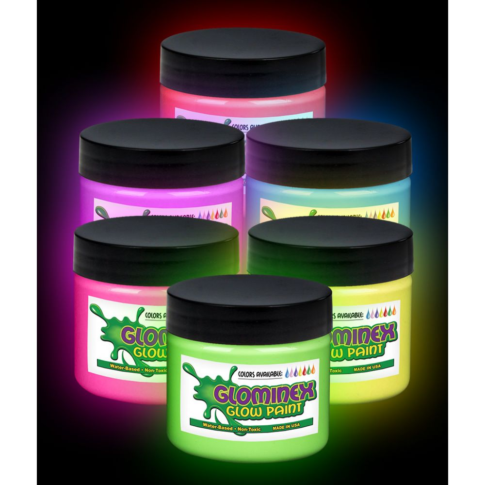 Glominex Glow Paint Pints - Assorted