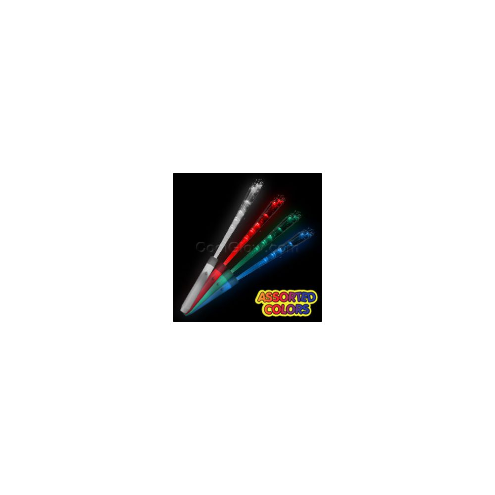 24 units of led fiber optic wand assorted at for Led wands wholesale