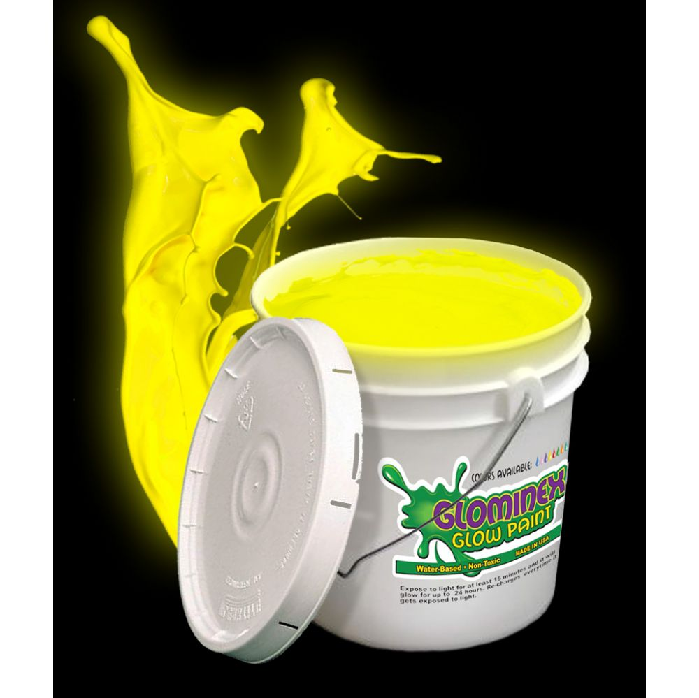Glominex Glow Paint Gallon - Yellow - LED Party Items