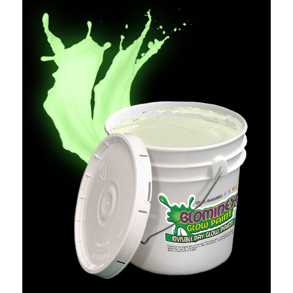 Glominex Glow Paint Gallon - Invisible Day Green - LED Party Items