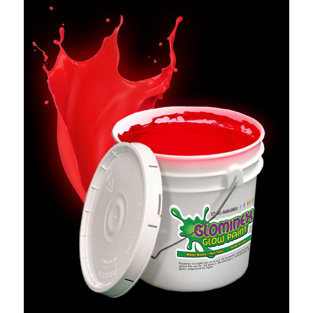 Glominex Glow Paint Gallon - Red