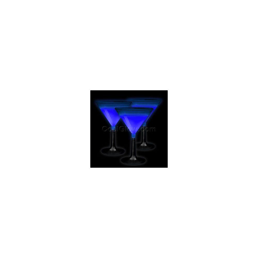 100 Units of Glow Martini Glass - Blue