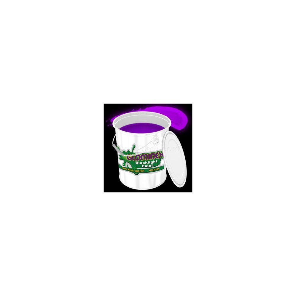 Glominex Blacklight UV Reactive Paint Gallon - Purple