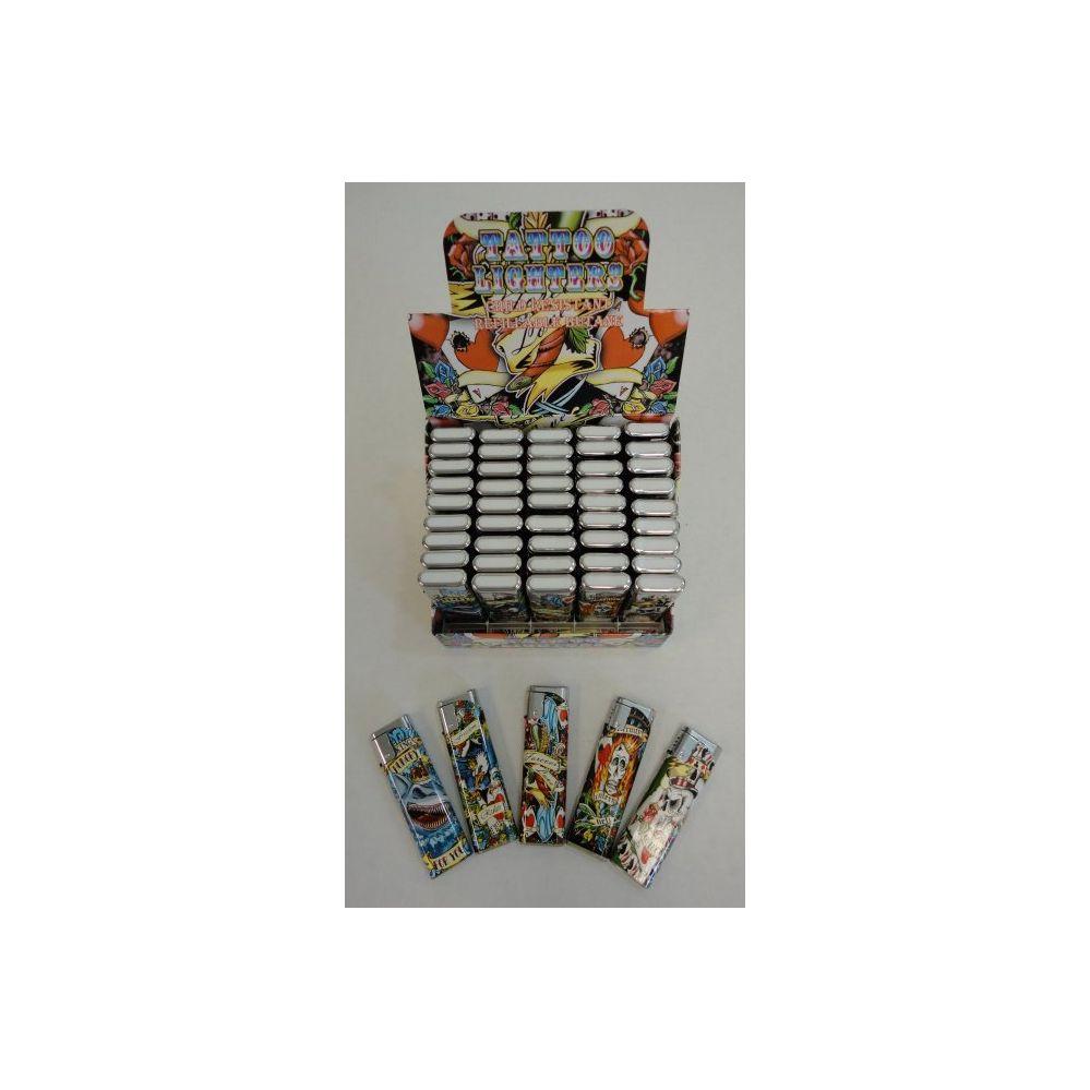 100 Units of Printed Slide Lighters [Tattoo]