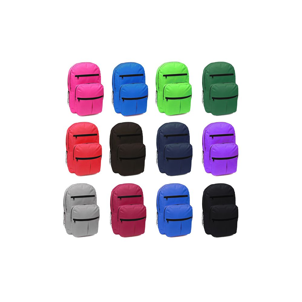 929ef2c25948 24 Units of 18 Inch Backpack Many Pockets With Large Assortment Of Colors - Backpacks  18