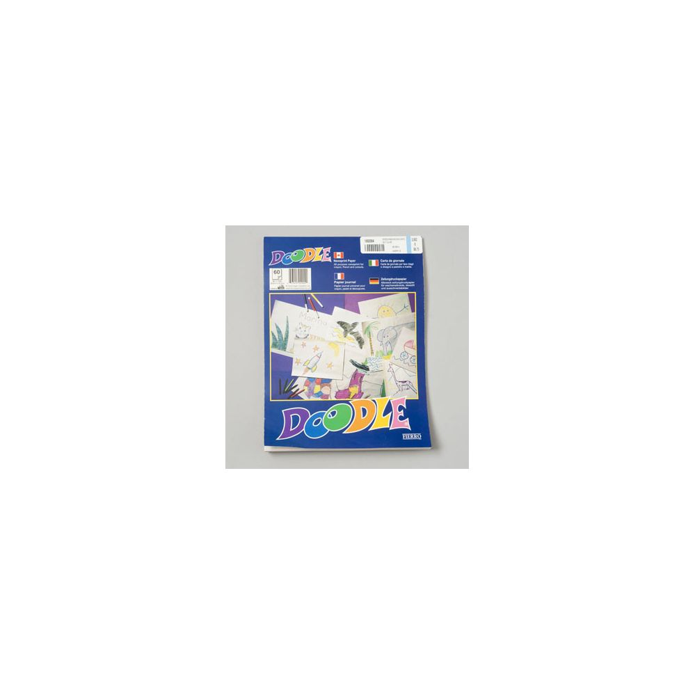 108 Units of Doodle Pads 9x12 Inch White 60 Ct Glued