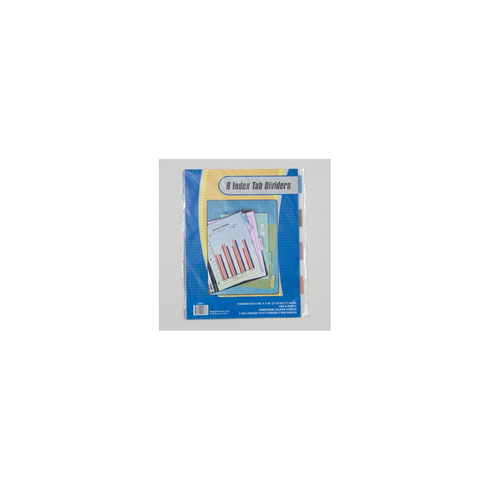 108 units of index tab dividers 8ct transparent colors 3 hole punch stationary insert labels