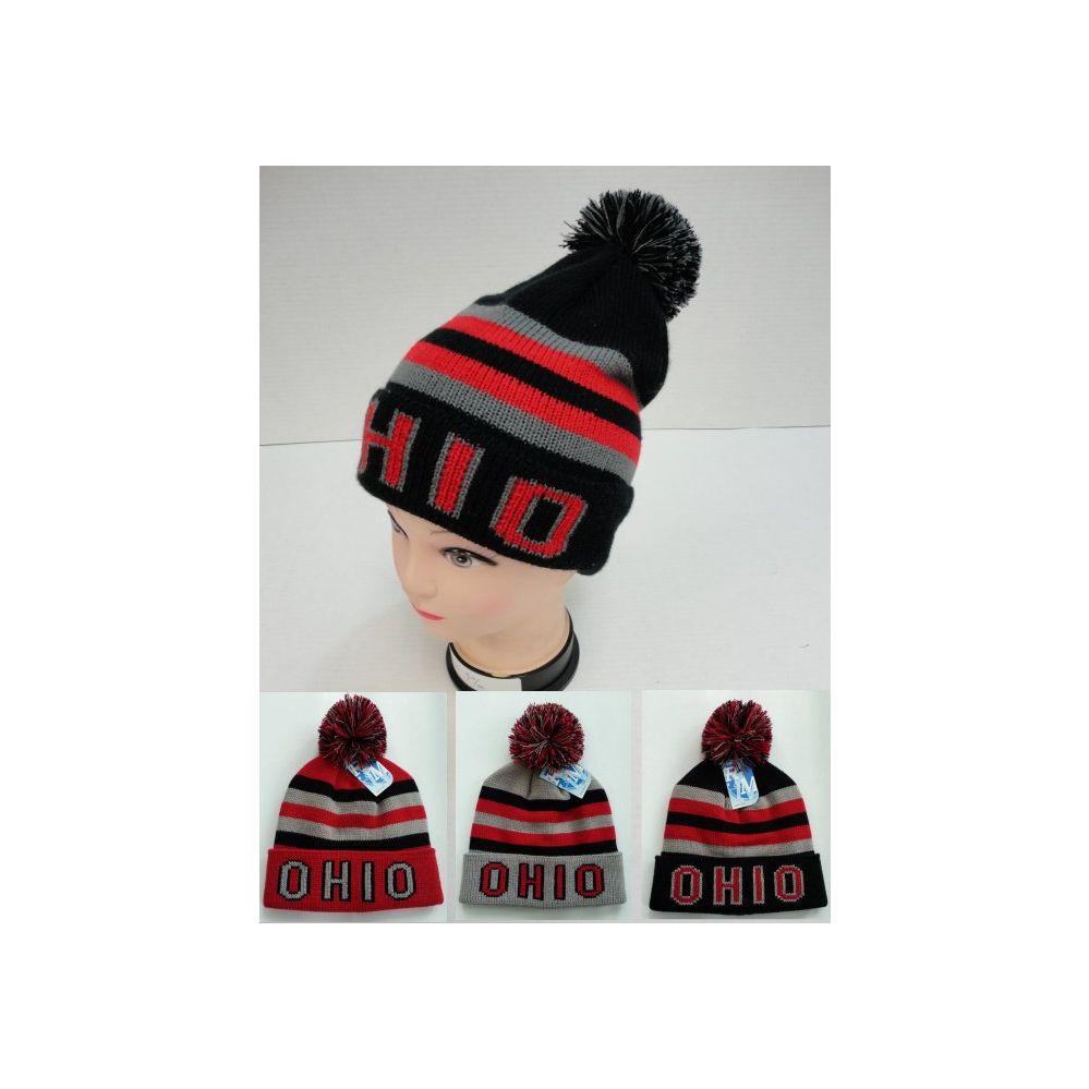 12 Units of Knitted Toboggan Hat [OHIO] - Toboggan Hats