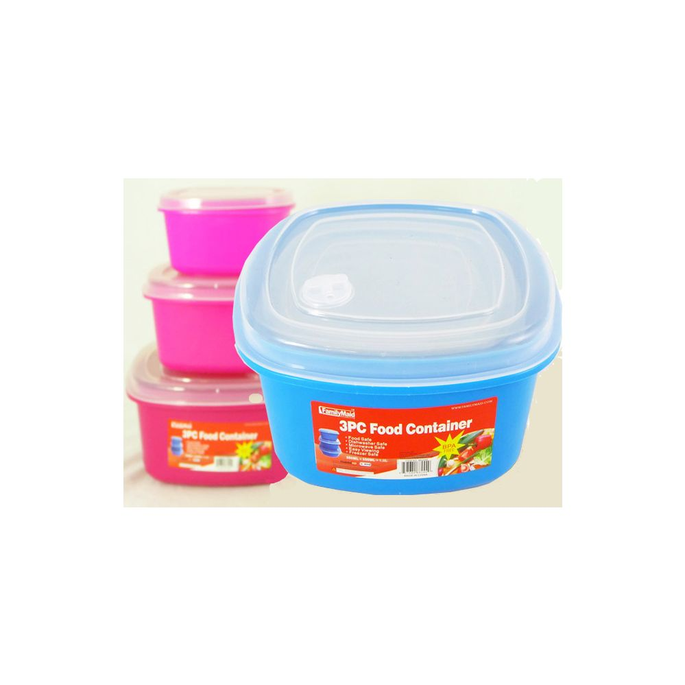 48 units of 3 piece square food container at for 3 pieces cuisine