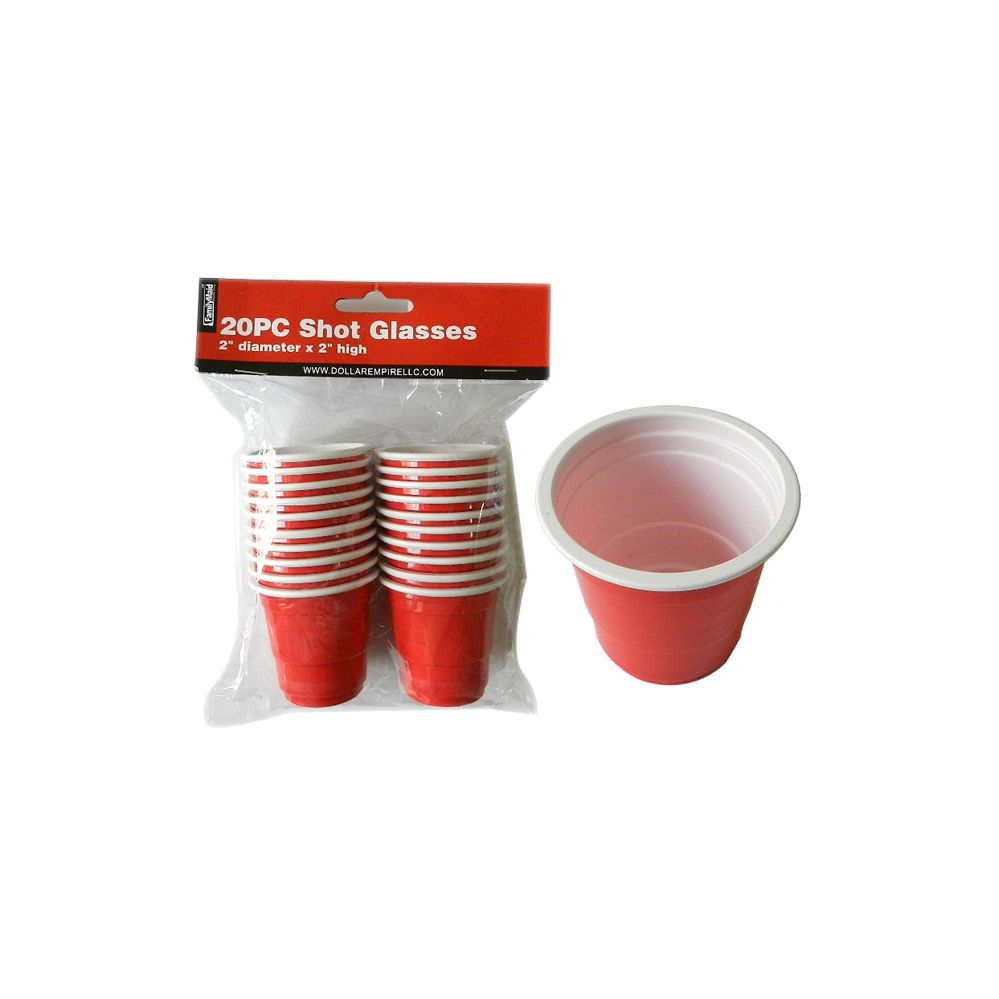 72 Units of 20pc Shot Cup - Party Paper Goods