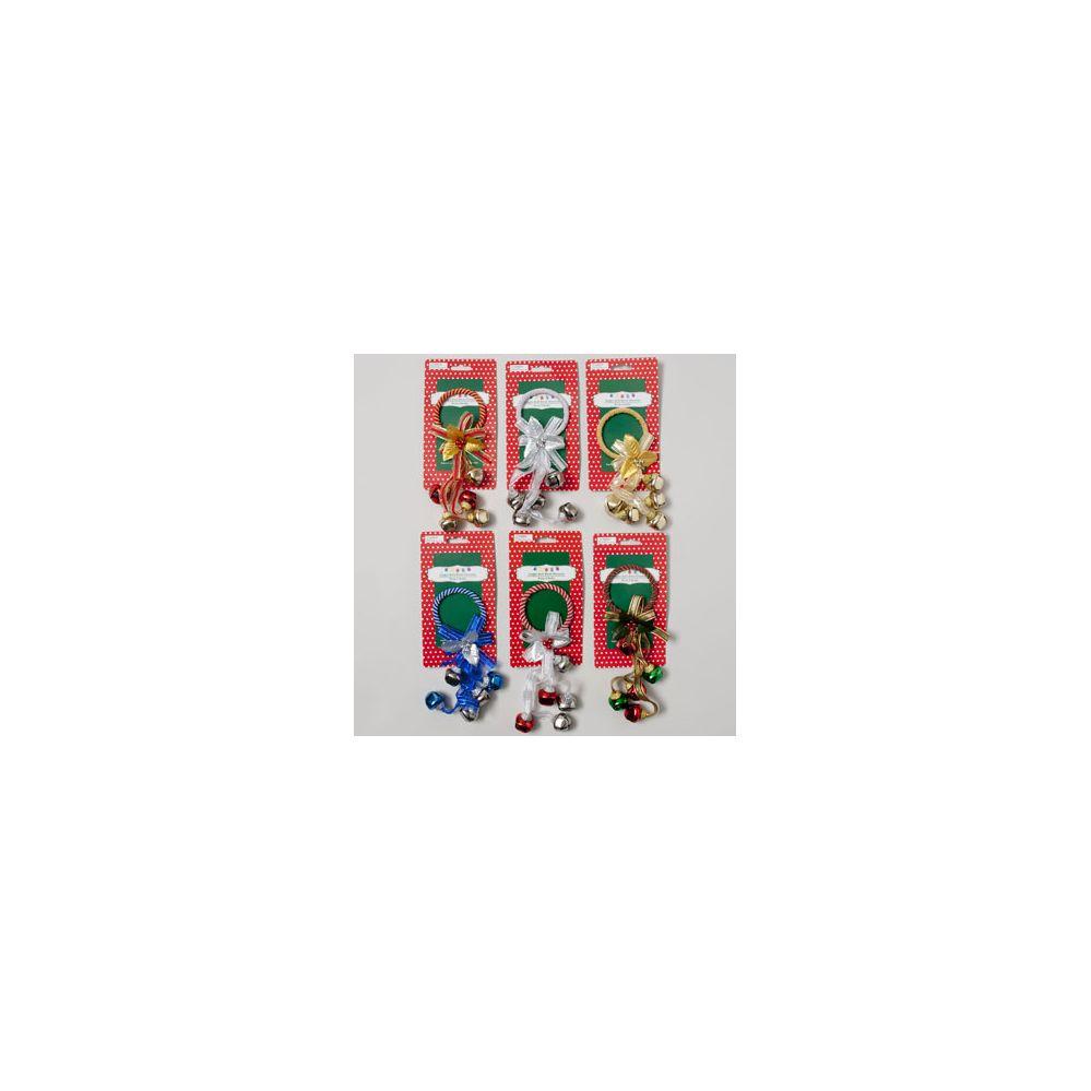 108 Units Of Door Greeter Jingle Bell 6asst W 5 Bells Bow Ribbon