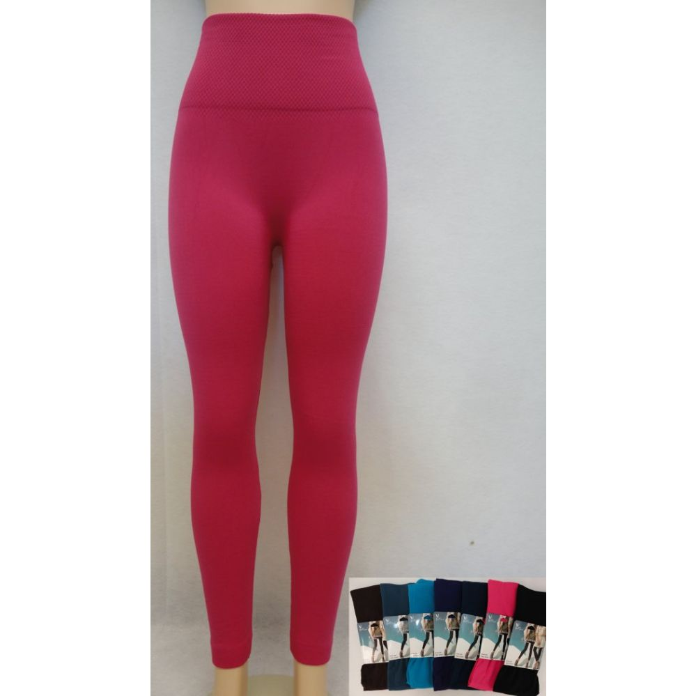 62a8e537b169f 24 Units of Fleece-Lined Leggings--Solid with High Waist - Womens Leggings  - at - alltimetrading.com