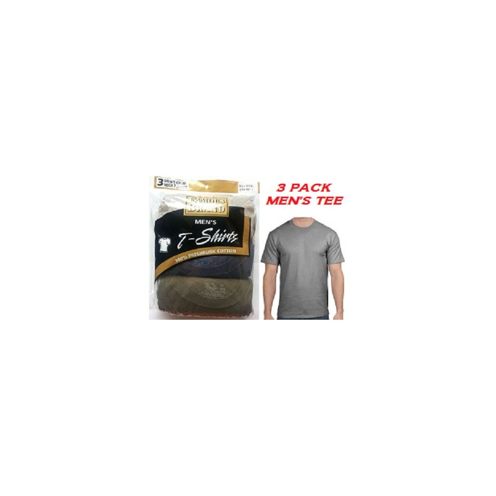 b928ddaaec1a1 28 Units of FRUIT LOOM  HANES 3PK MEN COLOR CREW TEE   FAMOUS BRAND  PACKAGING - Mens T-Shirts - at - alltimetrading.com