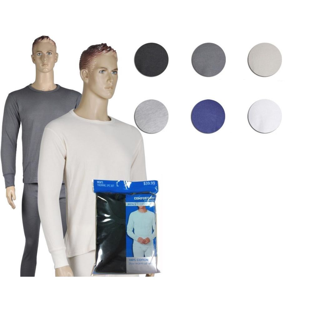 36 Units of Mens Thermal Set In Charcoal