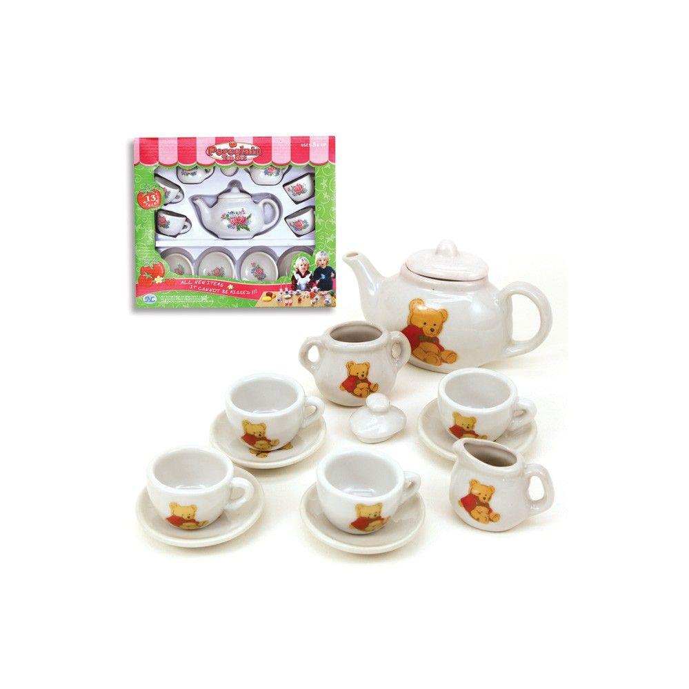 12 Units Of 13pc Porcelain Tea Set Girls Toys At