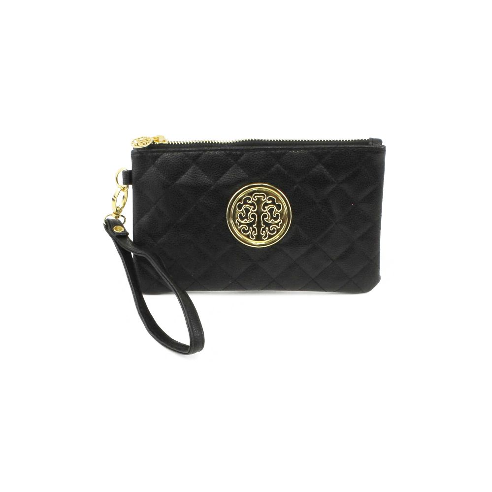 120 Units Of Delightful Quilted Wrisltlet Featuring A Tree Logo In Asst Color Packs Handbags At Alltimetrading