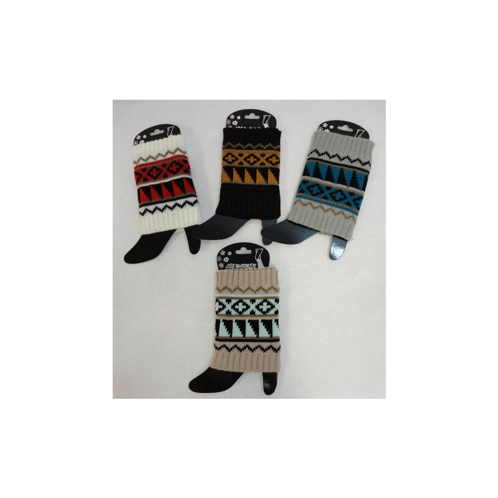 24 Units of Knitted Boot Cuffs - Womens Leg Warmers