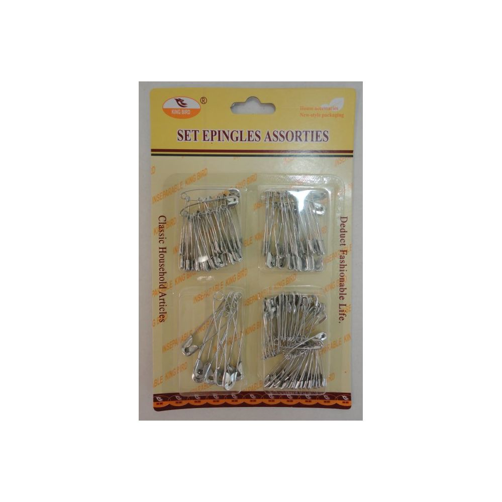 96 Units of Safety Pins--Assorted Sizes - SAFETY PINS