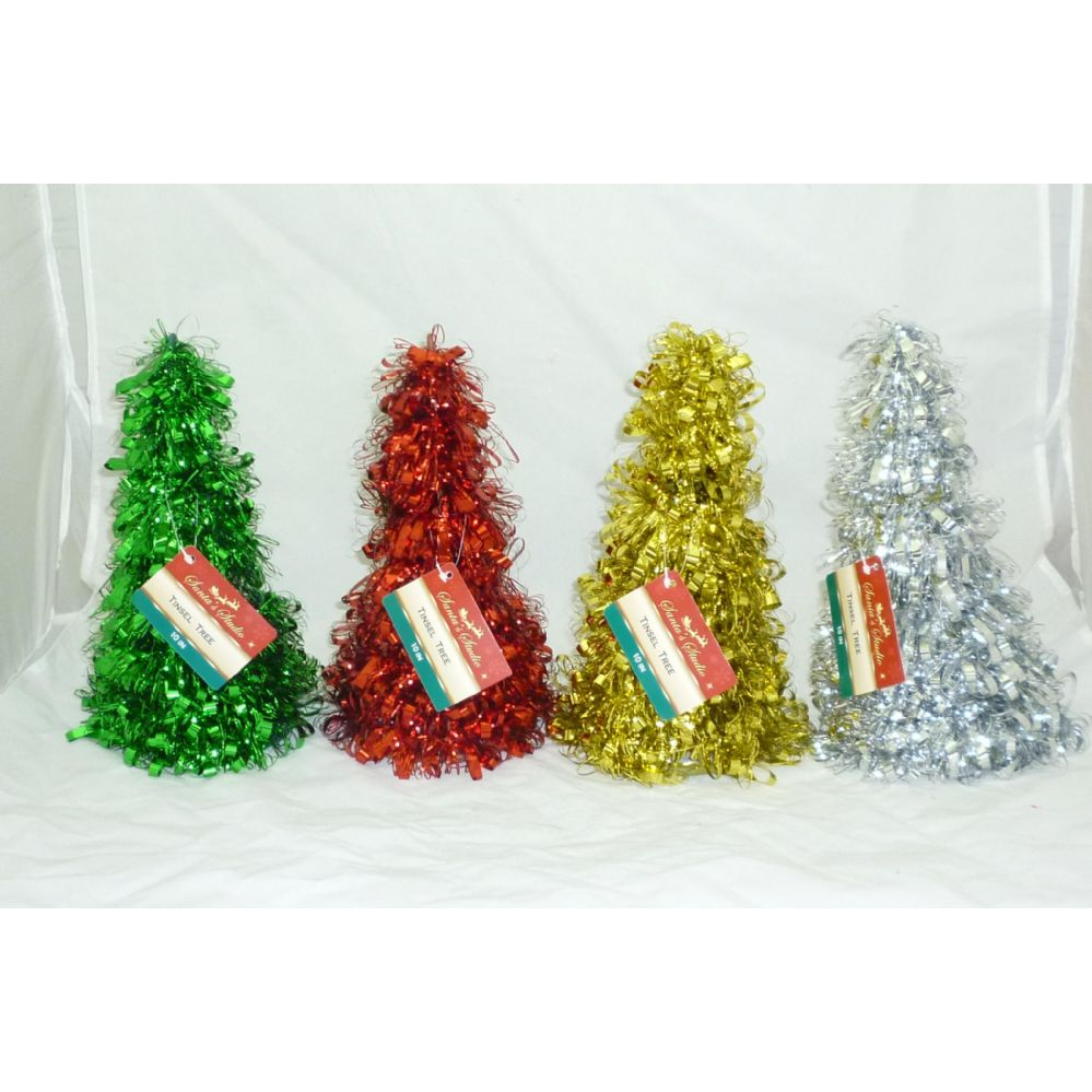 144 units of 10 tinsel tree christmas decorations
