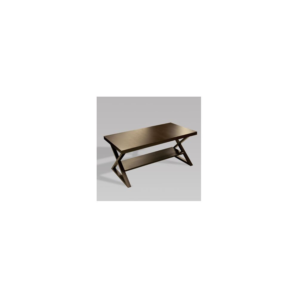 Coffee Table With Bronze Legs: 2 Units Of Table Coffee Dark Bronze Metal Legs