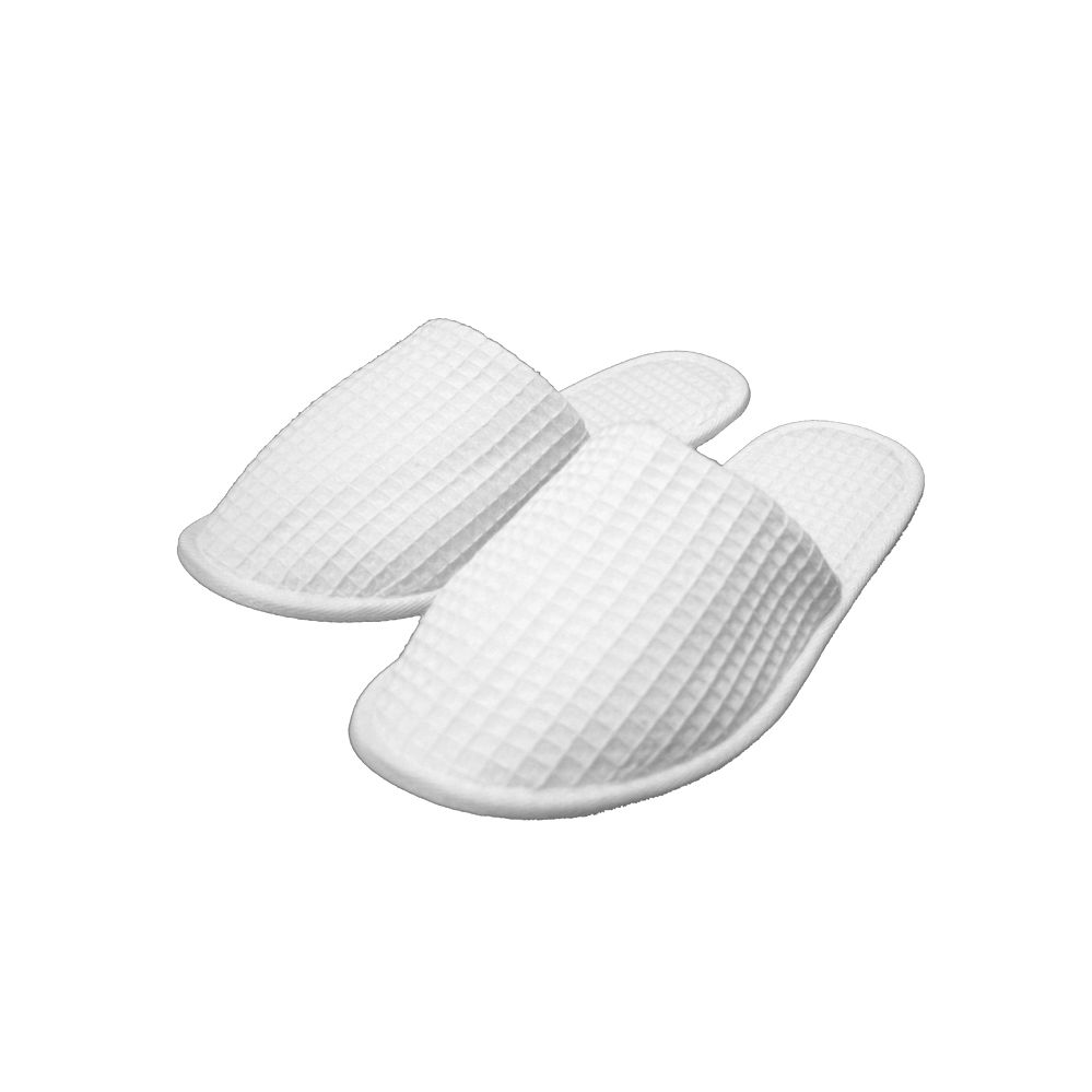 72 Units Of WAFFLE HOUSE/SPA SLIPPERS WHITE CLOSE TOE WHOLESALE   Womens  Slippers