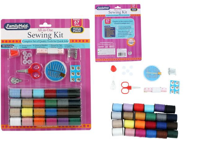 96 Units of 71pc sewing thread set - SEWING BUTTONS